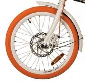 Покрышка оранжевого цвета DURO 20x1.75